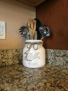 half gallon utensil holder mason jar utensil holder kitchen