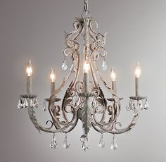 master Palais Large Chandelier Aged Metal