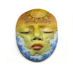 Sun and Sea Dream Sleepy Face Cab Art Doll by graphixoutpost, $8.50