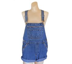 Women Denim Overall Shorts Denim Shortall by #SecondhandObsessionVintage