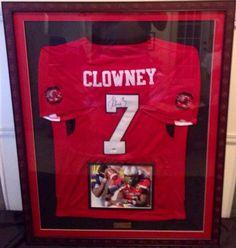Jadeveon Clowney Autographed Custom Framed Jersey