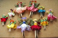 7 New Wooden Clothespins Kids Crafts & DIY Thoughts Fairy Crafts, Garden Crafts, Doll Crafts, Garden Projects, Fun Projects, Upcycled Crafts, Diy Crafts For Kids, Fun Crafts, Craft Kids