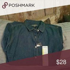 Shirt Denim soft cotton Eddie Bauer Tops Button Down Shirts