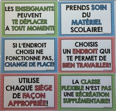 Classe Flexible - French Flexible Seating by Michelle Dupuis Education French Francais Classroom Setting, Future Classroom, School Classroom, Class Management, Classroom Management, French Classroom, Cycle 3, Flexibility, Teacher