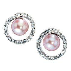 Damen-Stecker 50 Diamant-Brillanten 14 Karat (585) Weißgold Süßwasser-Zuchtperle 0.88 ct. Dreambase, http://www.amazon.de/dp/B0097PE9BK/ref=cm_sw_r_pi_dp_QM-utb1A3472M