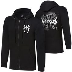 """Roman Reigns """"One Versus All"""" Youth Full-Zip Hoodie Sweatshirt ❤ liked on Polyvore featuring wwe"""