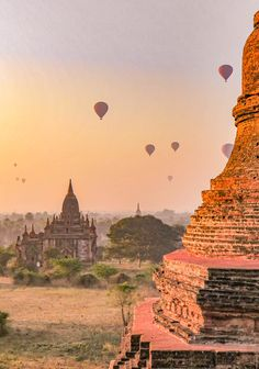 Watching the golden sunsets in ancient Bagan, Myanmar is an unforgettable travel experience. Myanmar Travel, Asia Travel, Cool Places To Visit, Places To Go, Travel Around The World, Around The Worlds, Bagan, Photo Diary, Travel Guides