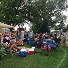 A snapshot of those enjoying the great music happening at #gardenstock15