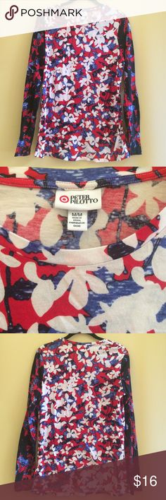 Peter Pilotto for Target This Peter Pilotto for Target long sleeve t-shirt features their iconic bold prints. Floral design through the shirt. 60% cotton, 40% Modal. Excellent condition. Only worn once. Peter Pilotto for Target Tops Tees - Long Sleeve