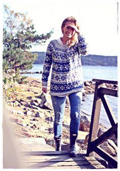 Kalastajan vaimo - norjalais neule