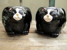 Vintage Collectible Black Cat Mugs Takahashi Coffee Cups