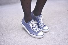 Find my old sense of style and buy a new pair of chucks....to be worn with everything! Chucks + Tights