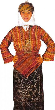 Traditional festive costume from the province of Adiyaman.  Model: mid-20th century.    This is a recent workshop-made copy, as worn by folk dance groups.