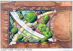 Urban School Landscape CT, Brownfield Industrial Tree Screening Planting | MVR LG Portfolio
