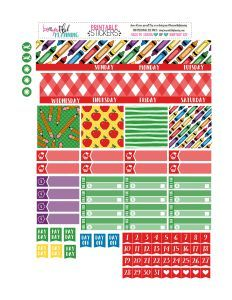 Free Printable Back To School Planner Stickers from BEaYOUtiful Planning