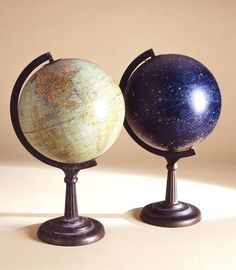 Terrestrial and Celestrial Table Globes by Rand McNally & Company