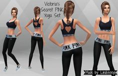 Mod The Sims - Victoria's Secret PINK Yoga Set