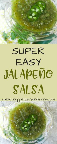 This Super Easy Jalapeño Salsa recipe is perfect with grilled meats, tacos, empanadas, eggs, tortilla chips etc. Easy to make and highly addictive salsa. Jalapeno Salsa, Jalapeno Recipes, Mexican Appetizers, Mexican Food Recipes, Mexican Cooking, Mexican Dishes, Appetizer Recipes, Tapenade, Tostadas