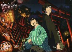 Tags: Anime, Yukata, Ao no Exorcist, Okumura Rin, Okumura Yukio, Kuro (Ao No Exorcist)