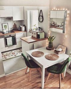 apartment kitchen 48 New Step By Step Roadmap For Studio Kitchen Ideas Small Spaces 2 - Small Apartment Kitchen, Small Space Kitchen, Home Decor Kitchen, Kitchen Interior, Home Kitchens, Diy Kitchen, Interior Design Ideas For Small Spaces, Awesome Kitchen, Flat Interior Design
