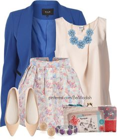 Cute Floral Polyvore Outfits To Copy This Spring