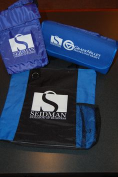 Lunch bags, fleece blankets, tote bags... anywhere you go you can support Seidman!