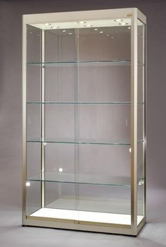 21 Various DIY Display Case Ideas to Keep your Beloved Stuff! - Home Decor Ideas Showcase Cabinet, Glass Showcase, Glass Shelves, Display Shelves, Lego Display, Display Cabinets, Vitrine Lego, Trophy Display, Glass Display Case