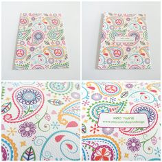 Colorful Paisley Textured Matte White Blank Card by crystaland