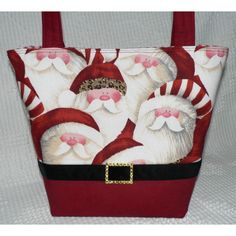 Christmas Purse - Hip Santa (Boutique Style) ($45) ❤ liked on Polyvore
