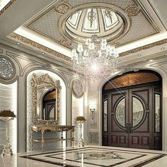 5 Domed Ceiling Decoration In A Luxurious Home Design Palace Interior, Mansion Interior, Luxury Homes Interior, Luxury Home Decor, Home Interior Design, Modern Interior, Dome Ceiling, Ceiling Decor, Ceiling Design
