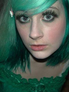 green, hair