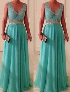 Blue Lace Dresses for Prom