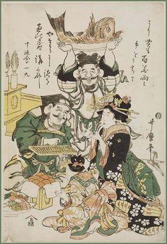 Mingei - Japanese Folk Art   Ebisu and Daikoku