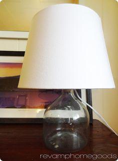 diy glass, bottl lamp, bottle lamps, glass bottl