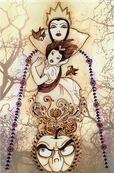 ''Flight From the Forest'' Snow White Limited Edition Giclée