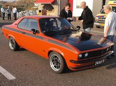 1973 Opel Manta. The Manta was ubiquitous on UK roads back in the day.
