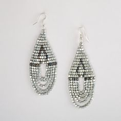 One of my favorite discoveries at WorldMarket.com: Silver Bead Chandelier Earrings