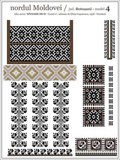 Blackwork Embroidery, Folk Embroidery, Cross Stitch Embroidery, Embroidery Patterns, Knitting Patterns, Cross Stitch Designs, Cross Stitch Patterns, Aztec Decor, Palestinian Embroidery