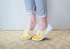Dip-Dyed Sneakers http://www.handimania.com/diy/dip-dyed-sneakers.html