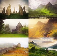 The Scottish Highlands--I just wanna go there & stay forever.