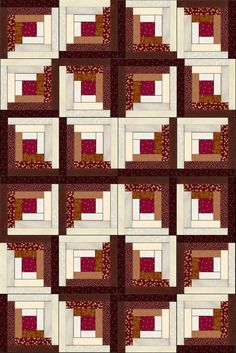 Russet Mahogany Cherry Pre-Cut Fabric Quilt Kit: