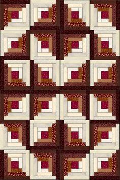 Russet Mahogany Cherry Pre-Cut Fabric Quilt Kit: