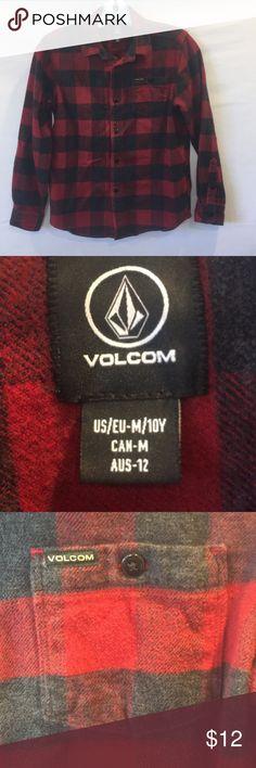 Boys Volcom Plaid Flannel Shirt Boys Volcom Plaid flannel shirt Size M/10Y Excellent condition Volcom Shirts & Tops Button Down Shirts