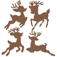 Christmas Reindeer Set  SVG scrapbook cut file cute clipart files for silhouette cricut pazzles free svgs free svg cuts cute cut files
