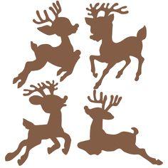 Christmas Reindeer Set  SVG scrapbook cut file cute clipart files for silhouette cricut pazzles free svgs free svg cuts cute cut files