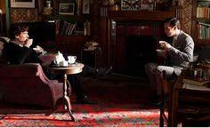 |Sherlock, saison 2, épisode 3: The Reichenbach Fall. Looking like the best of friends. #bbcsherlock #tea