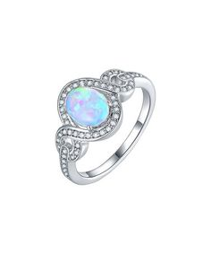 Another great find on #zulily! Opal & Cubic Zirconia Oval-Cut Swirl Ring #zulilyfinds