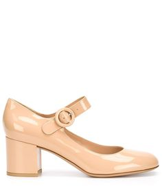 GIANVITO ROSSI Nude Patent Leather Lorraine Mid Pump 45a2a7a4d544