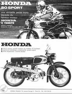 Classic Honda Motorcycles, Yamaha Motorcycles, Vintage Motorcycles, Honda Cycles, Honda Bikes, Motorcycle Posters, Retro Motorcycle, Honda Wing, Suzuki Cafe Racer