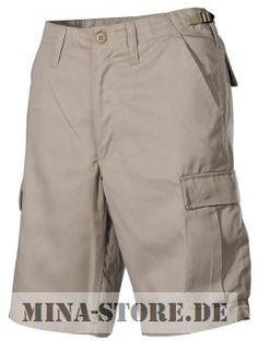 mina-store.de - US BDU Bermuda Seitentaschen khaki #Bundeswehrshop